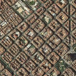 Eixample Dreta Barcelona Mapa.Mapa Satelite De Dreta De L Eixample Como Llegar Y Plano
