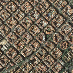 Eixample Dreta Barcelona Mapa.Mapa Satelite De Eixample Esquerra Como Llegar Y Plano