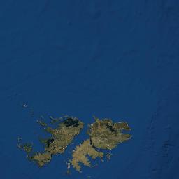 Mapa Satelital De Falkland Islas Malvinas Como Llegar Y Plano
