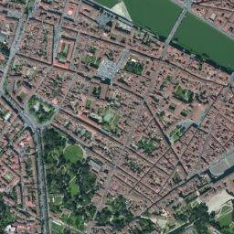 Firenze Cartina Geografica.Mappa Di Palazzo Pitti Con Cartina Geografica Stradale E Vista Satellitare