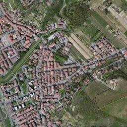 Firenze Cartina Geografica.Mappa Di Certaldo Con Cartina Geografica Stradale E Vista Satellitare