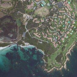 Cartina Satellitare Sardegna.Mappa Di Puntaldia Con Cartina Geografica Stradale E Vista Satellitare