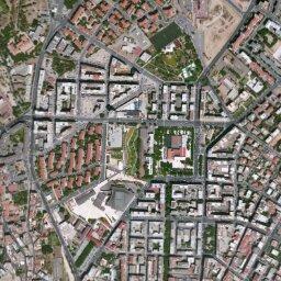 Cartina Geografica Di Cagliari.Mappa Di Anfiteatro Romano Di Cagliari Con Cartina Geografica Stradale E Vista Satellitare